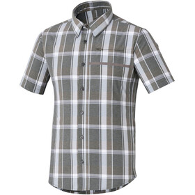 Shimano Transit Check Button Up - Maillot manches courtes Homme - gris/blanc